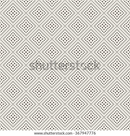 Seamless pattern. Abstract lace background. Modern small dotted texture with regularly repeating geometrical tiles, small dots, dotted rhombus, diamond. Vector element of graphic design - stock vector