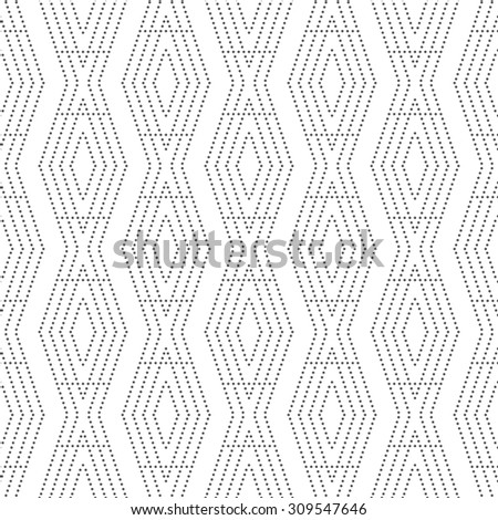 Seamless pattern. Abstract small textured background. Modern stylish texture. Repeating geometrical tiles with dotted rhombuses and diamonds. Vector element of graphical design - stock vector