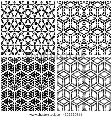 Seamless pattern. Abstract vector illustration. - stock vector