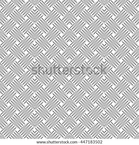 Seamless pattern. Art deco background. Simple elegant texture with thin lines. Regularly repeating geometrical ornament with intersecting linear zigzags. Vector element of graphical design - stock vector