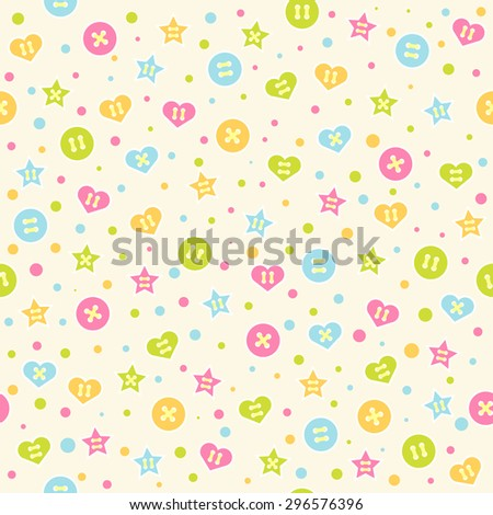 seamless pattern baby background colorful circles stock vector