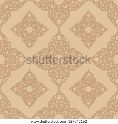Seamless Pattern BackgroundClassic Gothic Floral Wallpaper With Royal Luxury Design Vector Illustration