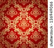 Seamless pattern background.Damask wallpaper.Vector illustration - stock vector