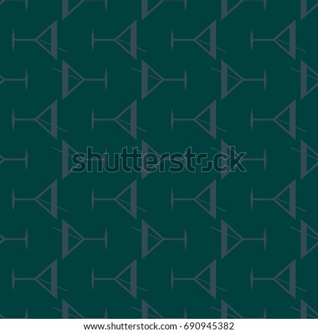 Seamless pattern background with alcohol cocktail drinks of martini, margarita, tequila or vodka.