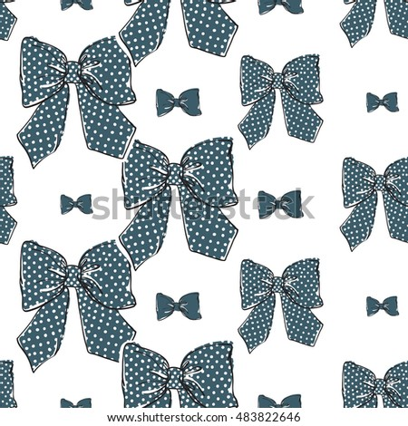 seamless pattern background red bowtie vector stock vector