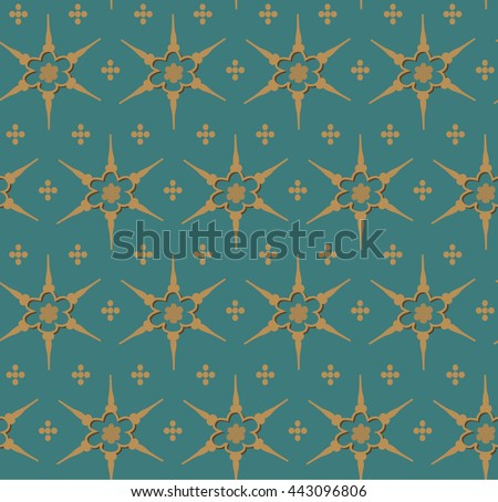 seamless pattern based on old persian art  - stock vector