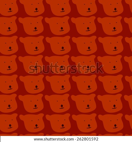 Seamless pattern bears - stock vector