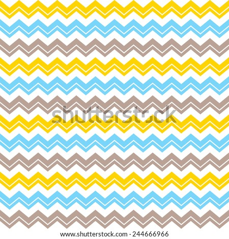 Seamless  pattern.  Chevron pattern: blue, yellow, beige and white weaves - stock vector