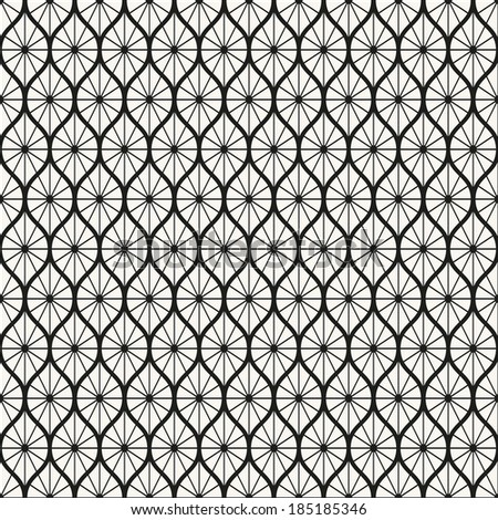 Seamless pattern. Classical antique ornament. Geometric stylish background. Vector repeating texture. - stock vector