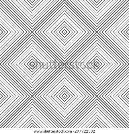 Seamless pattern. Classical rombic tile. Regularly repeating geometrical elements, shapes, linear diamonds, rhombuses. Monochrome. Backdrop. Web. Vector element of graphic design - stock vector