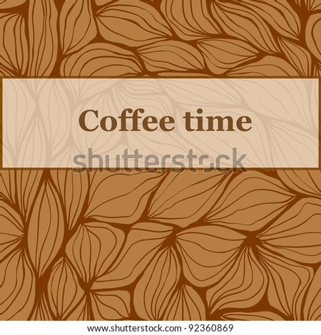 Seamless pattern coffee time background - stock vector