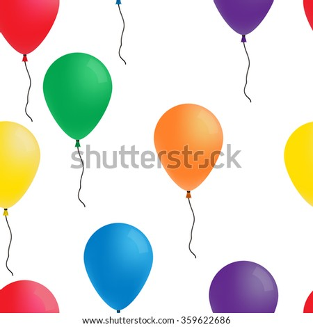 Seamless pattern: color balloons - stock vector