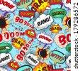 Seamless pattern comic speech bubbles vector illustration - stock