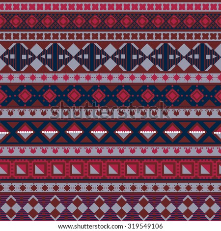 Knitted Background Fair Isle Style Three Stock Vector 88601383 ...