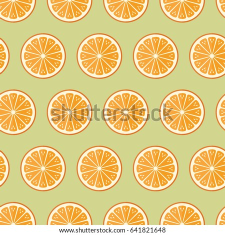 Seamless Pattern Cooking Recipe Kitchen Orange Fruit Food On Green  Background Vector Wallpaper Textiles