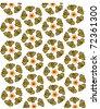 seamless pattern design on white background - stock vector