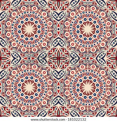 seamless pattern: detailed vector persian carpet - stock vector