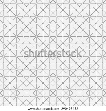 Seamless pattern. Elegant geometric texture with thin lines. Repeating geometrical forms, rhombuses, squares, triangles, circles. Monochrome. Backdrop. Web. Vector element of graphic design - stock vector
