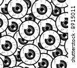 Seamless Pattern Eyes - stock photo