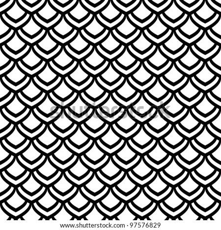 "Seamless pattern. ""Fish scale"" motif. Vector art. - stock vector"