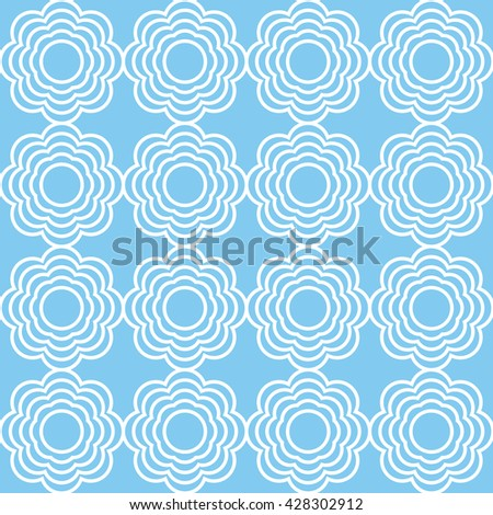 Seamless pattern. Floral stylish background. Classic background. geometric, pastel, lines, blue color