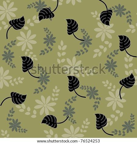 Seamless pattern flowers - stock vector