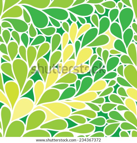 Seamless pattern. Foliate background in green colors - stock vector