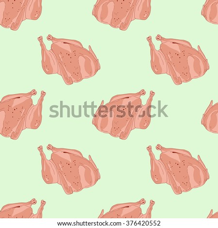 Seamless pattern for cooking fried chicken - stock vector