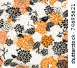Seamless pattern for the better halloween. Vector doodle illustration. - stock photo