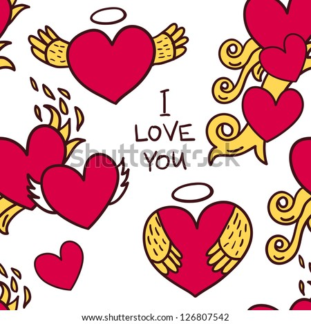 Seamless pattern for valentine's day - stock vector