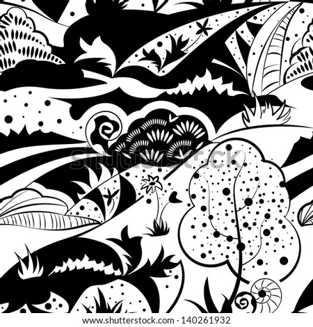 Seamless pattern. Forest.