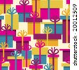 Seamless pattern from christmas gifts (can be repeated and scaled in any size) - stock vector