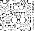 seamless pattern from glasses - stock vector