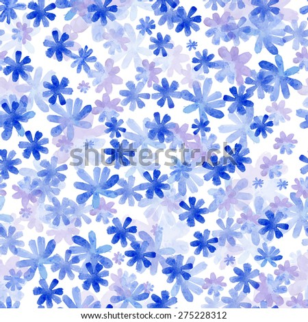 Seamless pattern from water color flowers. Vector illustration. - stock vector