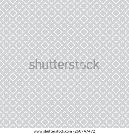 Seamless pattern. Geometric pixel texture with repeating diamonds. Web. Backdrop. Monochrome. Vector illustration - stock vector