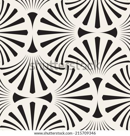 Seamless pattern. Geometric regular ornament. Vector repeating texture - stock vector