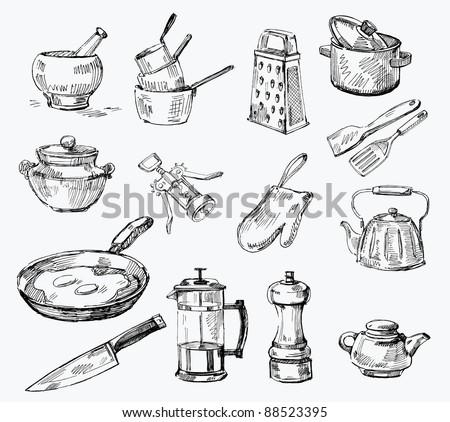 seamless pattern-hand drawn - stock vector