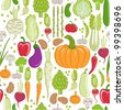 seamless pattern. healthy vegetable - stock vector