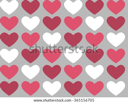 Seamless Pattern Heart On Gray Background Stock Vector 365156705 ...