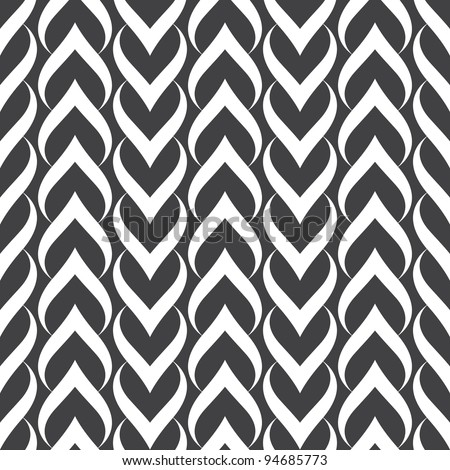 Seamless pattern. Hearts. - stock vector