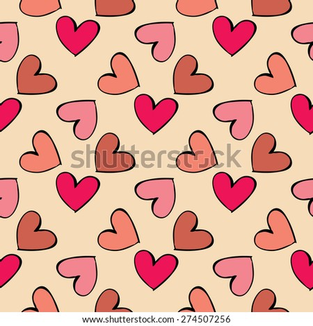 Seamless pattern hearts  . Seamless pattern can be used for wallpaper, pattern fills, web page backgrounds, surface textures. - stock vector
