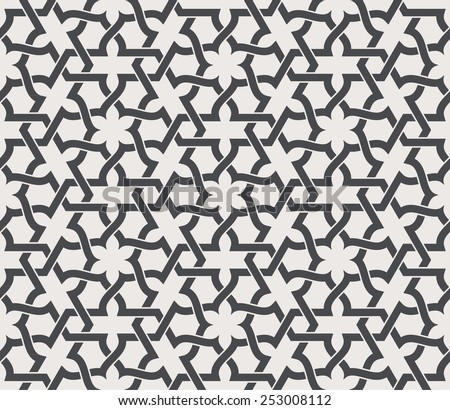 Seamless pattern in arabic style. Arabesque. Vector illustration. - stock vector