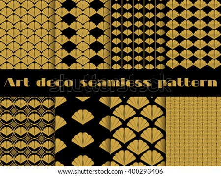 Seamless pattern in art deco style. Set vector backgrounds. - stock vector