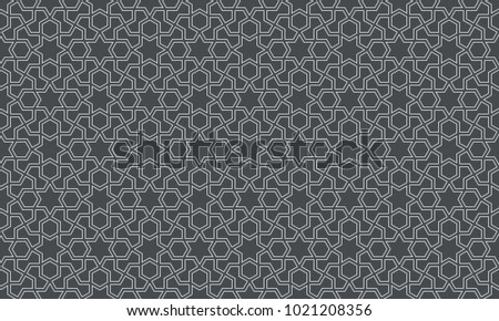 Seamless pattern in authentic arabian style. Color watches control