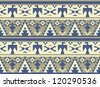 Seamless pattern in aztec style with birds - stock vector