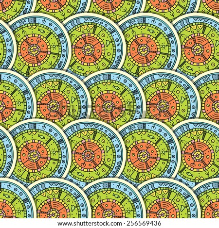 Seamless pattern in ethnic style. Vector illustration. Eps 10. - stock vector