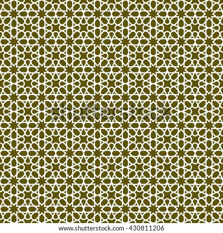 Seamless pattern in Islamic / Ornamental pattern. Traditional Arabic seamless ornament. / Elegant background for cards.  - stock vector