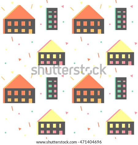 House Building Icons Stock Vector 122982745 Shutterstock