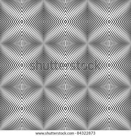 Seamless pattern in op art design. Vector textured background. No gradient. - stock vector