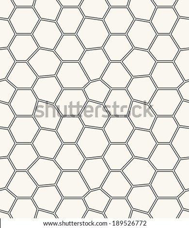 Seamless pattern. Irregular abstract grid background with round nodes. Reticulated vector texture